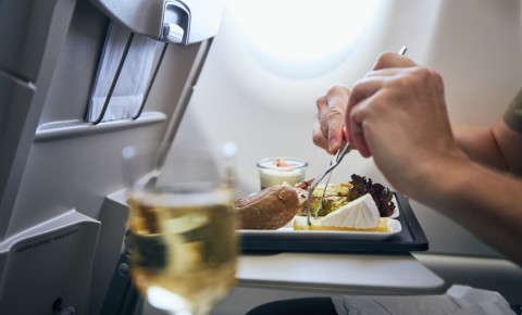 Airline meal and beverage 123rf