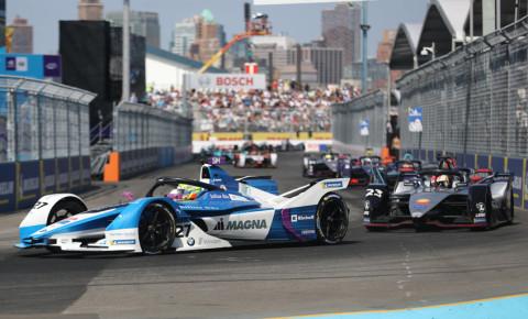 professional racing driver driving his Formula E car  E-Prix 123rf