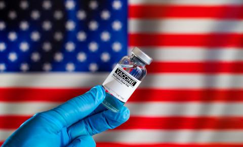United States of America US USA flag covid-19 vaccine 123rf