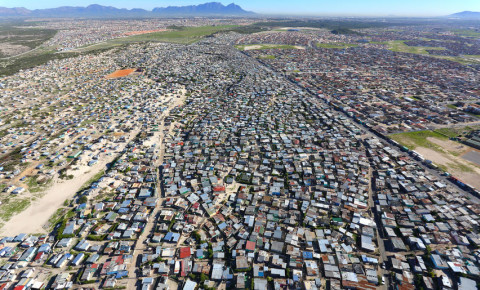 Aerial photo of Khayelitsha Cape Town Western Cape 123rf