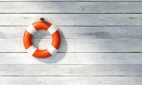 Lifebuoy rescue drowning guard 123rf