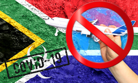 South Africa travel ban red list Covid-19 123rf