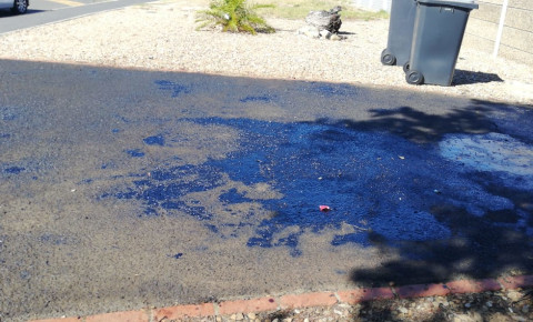 Driveway tarred by unscrupulous scammers courtesy Milnerton Crime Watch