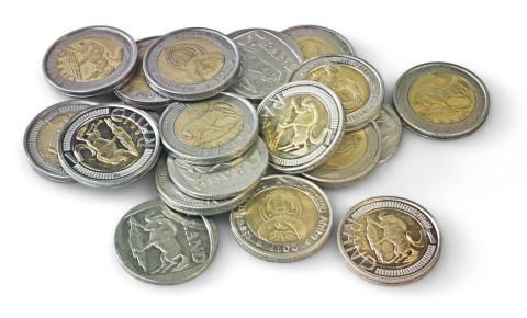 R5 south african coins currency 123rf