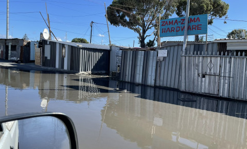 Raw sewage in Maphongwane Ave in Site C Khayelitsha