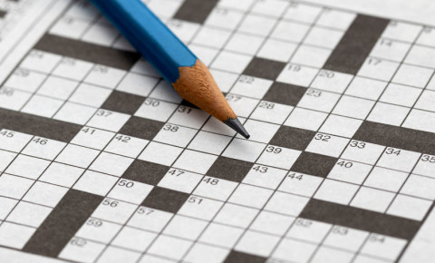 Crossword puzzle in a newspaper 123rf