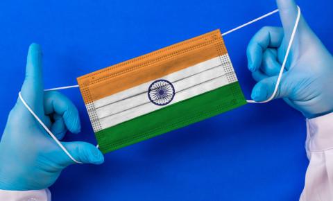 India Covid crisis mask infections virus 123rf