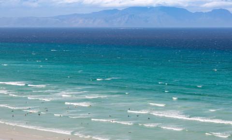 Muizenberg beach ocean waves surfers surfing watersports Cape Town summer 123rf