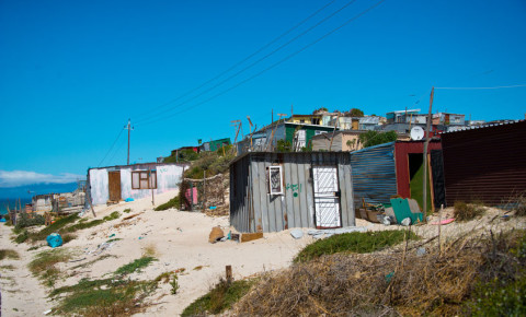Shacks in informal settlement in Khayelitsha township 123rf