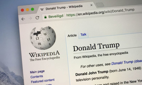 Wikipedia Donald Trump 123rf