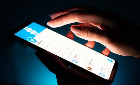 social media hashtag Twitter tweets online hands digital crimes 123rf