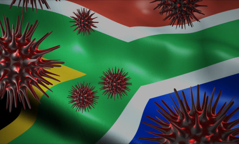 Coronavirus Covid-19 South African flag 123rf