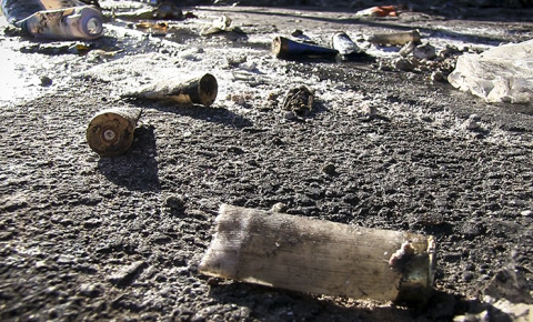 FILE: Rubber bullet casings. Picture: Thomas Holder/EWN