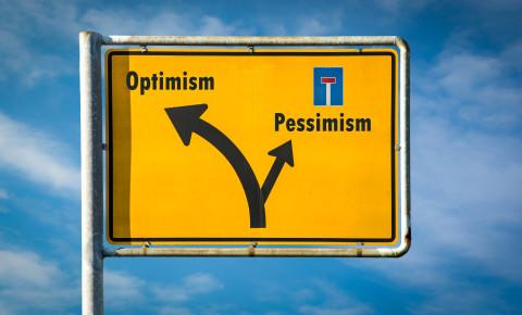 Optimism pessimism optimistic pessimistic 123rf