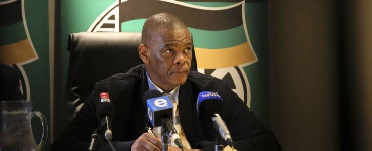 ANC Secretary-General Ace Magashule is seen during the ANC press conference on 1 August 2018 on the outcomes of the special ANC NEC meeting held in Cape Town. Picture: Cindy Archillies/EWN.