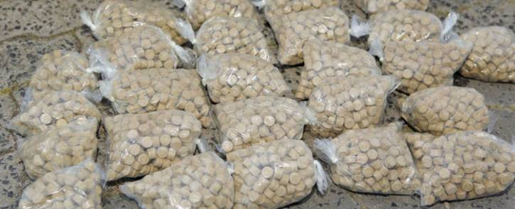 The mandrax tablets found in an abandoned vehicle on 11 September 2018 near Cape Town International Airport. Picture: @SAPoliceService/Twitter