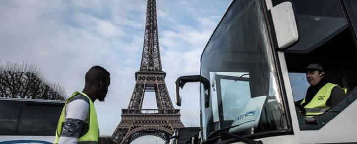 FILE: Bus drivers protest in Paris, France. Picture: AFP