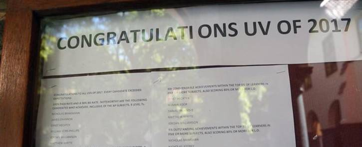 St John's pupils say they are relieved and overwhelmed after seeing their results. Picture: Sethembiso Zulu/EWN