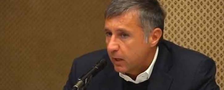 A video screengrab of consultancy film Bain's Vittorio Massone giving his testimony at the Sars inquiry in Pretoria.