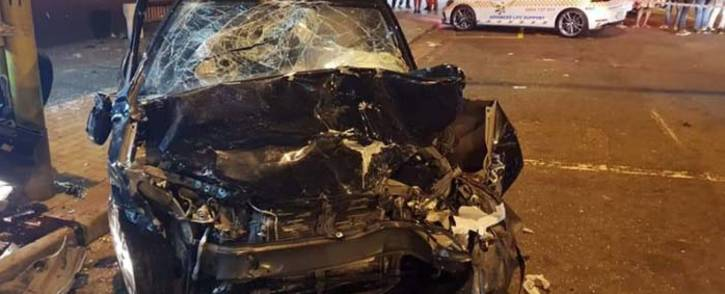 Four people were killed when two cars collided in Durban, KwaZulu-Natal. Picture: Rescue Care.