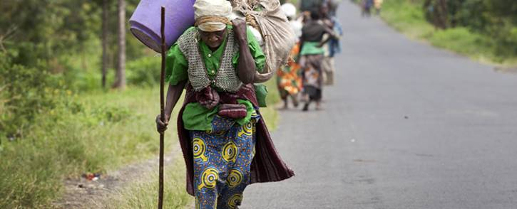 FILE: Villagers flee their homes in Sake, in the Democratic Republic of the Congo's North Kivu province, as fighting erupts between FARDC Government forces and rebel groups. Picture: United Nations Photo.