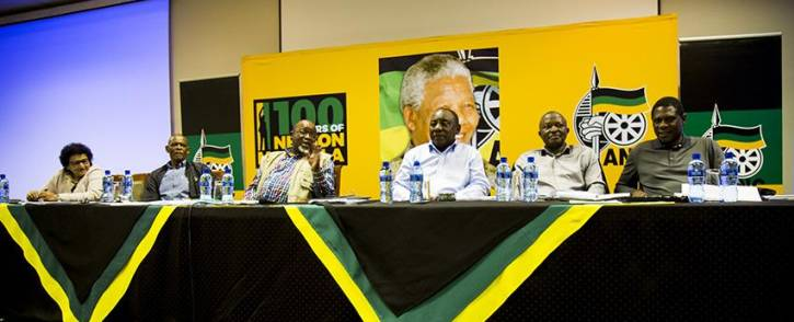 The ANC top six present at special NEC meeting. Picture: Kayleen Morgan/EWN