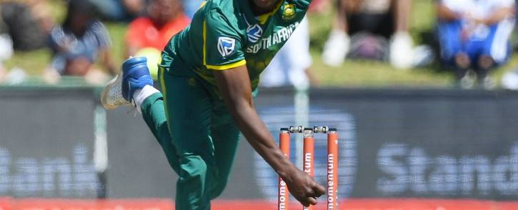 Proteas fast bowler Kagiso Rabada has been fined 15% of his match in the 5th ODI against India. Picture: Twitter/@OfficialCSA