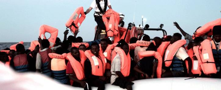 FILE: Survivors rescued from the Mediterranean by the Aquarius, which is operated by the Medecins Sans Frontieres and SOS Mediterranee charities. Picture: unhcr.org.