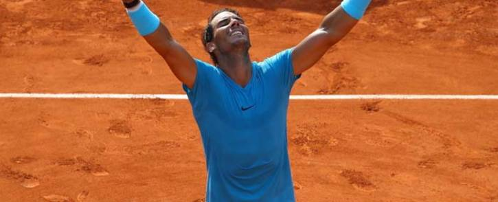 Rafael Nadal reacts after beating Dominic Thiem to claim his 11th French Open title. Picture: @rolandgarros/Twitter.