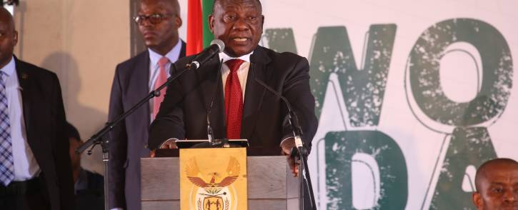 At government's official Women's Day event in Paarl, President Cyril Ramaphosa's message addressed key issues facing women in the country. Picture: Bertram Malgas/EWN