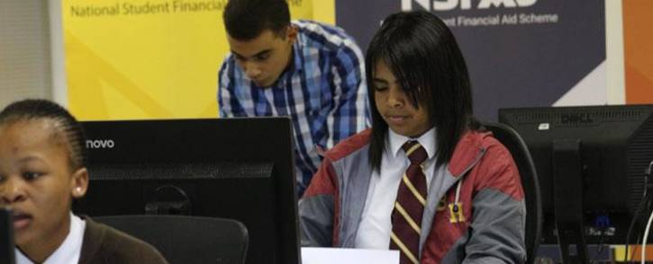 Learners testing the NSFAS online application system. Picture: Supplied