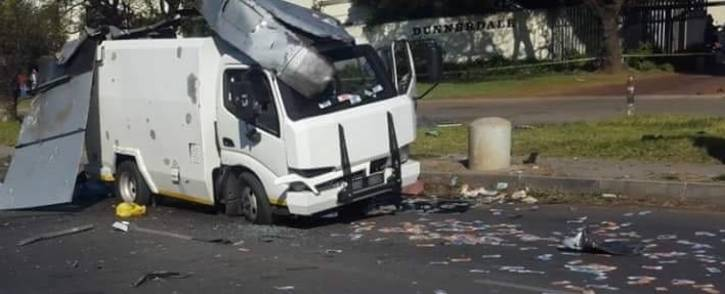 FILE: The scene of a cash-in-transit heist on Atlas Road in Boksburg. Picture: Supplied