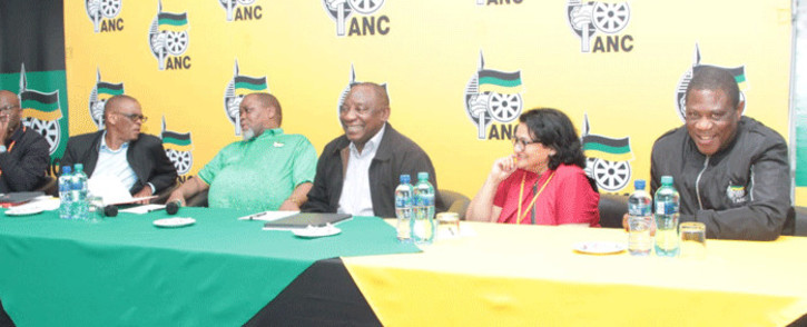 FILE: ANC leadership at the party's special NEC meeting on 29 September 2019 in Pretoria. Picture: @MYANC/Twitter.