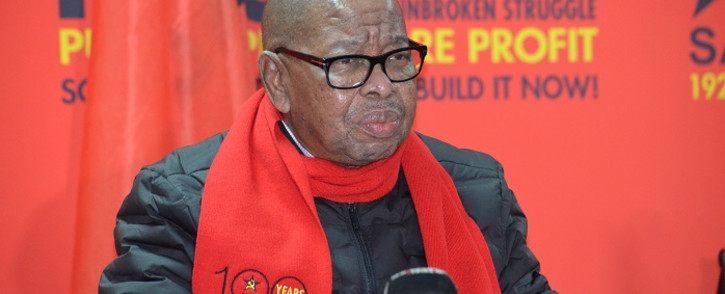 SACP General Secretary Blade Nzimande gives the keynote address at the party's 100th-year celebrations on 1 August 2021. Picture: SACP.