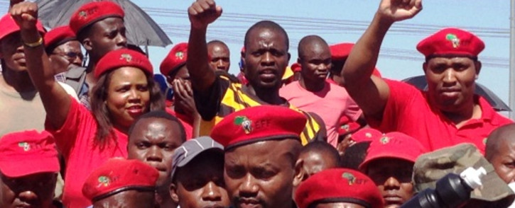 Despite numerous complaints, the EFF denies overshadowing a march by Mooiplats residents.. Picture: Reinart Toerien/EWN