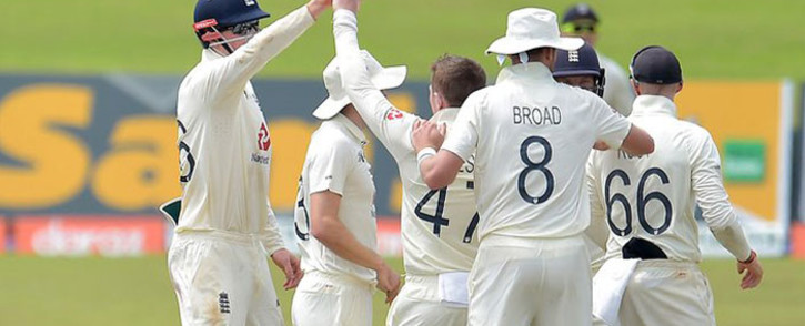 England spinners claimed three key wickets on Sunday to tighten the noose around Sri Lanka. Picture: Twitter @englandcricket.