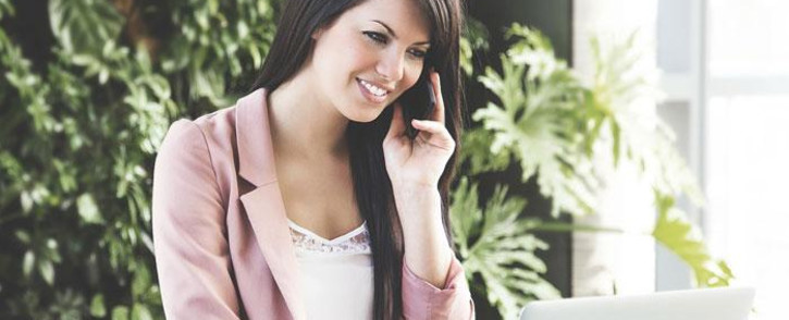 work professional woman smiling office