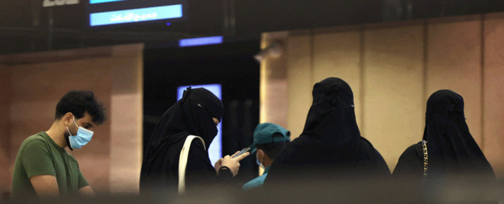 Saudi passengers arrive to King Khaled International airport in the capital Riyadh on May 17, 2021, as Saudi authorities lift travel restrictions for citizens immunised against COVID-19. Picture: Fayez Nureldine / AFP
