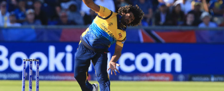 Sri Lanka's Lasith Malinga delivers a ball during the 2019 Cricket World Cup group stage match between Sri Lanka and West Indies at the Riverside Ground, in Chester-le-Street, northeast England, on 1 July 2019. Picture: AFP