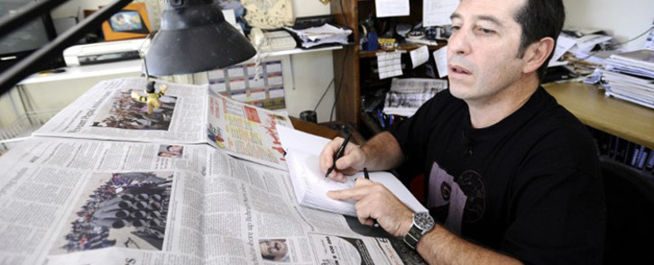 The political cartoonist Jonathan Shapiro, better known as Zapiro. Picture: AFP