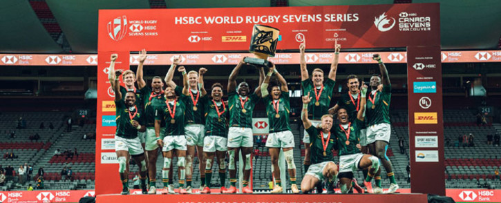 The Blitzboks beat Kenya in the final of the Canada Sevens tournament on 20 September 2021 to claim the title. Picture: @CanadaSevens/Twitter