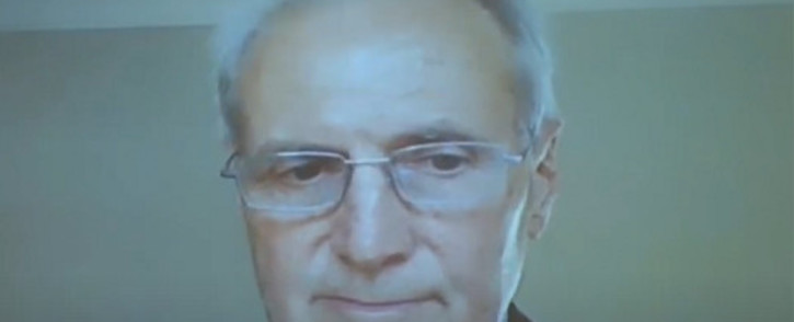 A screengrab shows former Eskom consultant Nicholas Linell testifying via video link at the state capture inquiry on 9 September 2020. Picture: SABC Digital/YouTube
