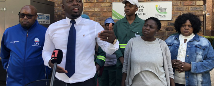 DA Gauteng premier candidate Solly Msimanga announced what he called a bold plan to ensure fair access to jobs in Gauteng on 25 April 2019. Picture: @SollyMsimanga/Twitter