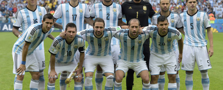 FILE: Argentina pose for a team photo ahead of their match against Nigeria. Picture: Facebook.