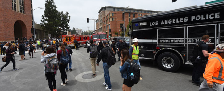 The scene on the UCLA campus after a shooting on 1 June 2016, in Los Angeles. Picture: AFP.