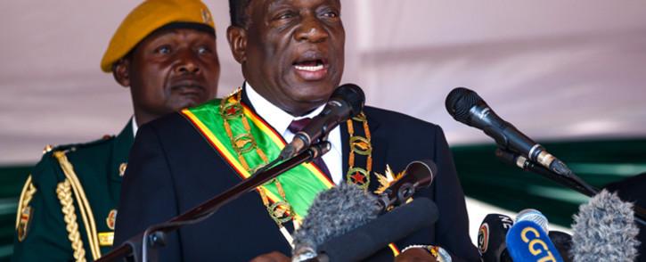 FILE: Zimbabwe President Emmerson Mnangagwa. Picture: AFP