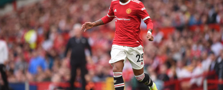 FILE: Manchester United striker Jadon Sancho runs with the ball during the English Premier League football match between Manchester United and Newcastle at Old Trafford in Manchester, north west England, on 11 September 2021. Picture: Oli Scarff/AFP