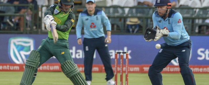 Quinton de Kock scored 107 off 113 balls to lead the Proteas to victory against England in Cape Town. Credit: AFP