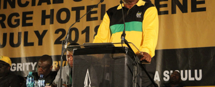 President Cyril Ramaphosa addresses the opening of the ANC Gauteng provincial conference in Irene, Pretoria. Picture: @GautengANC/Twitter