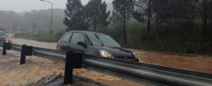 Heavy rains flooded roads causing chaos in the Eastern Cape. Picture: Aletta Gardner/EWN.